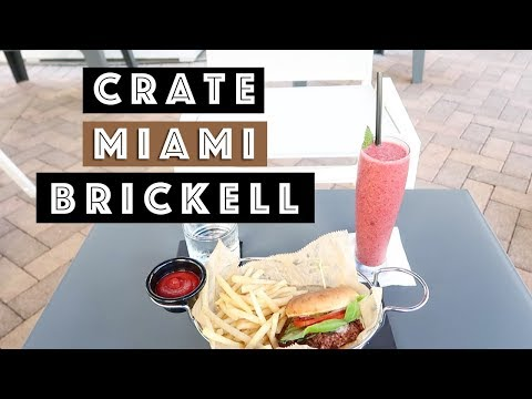 New Miami Vegetarian / Vegan Restaurant CRATE in Brickell Miami