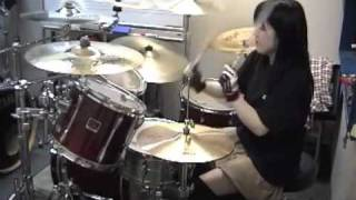 "IN FLAMES ""Embody The Invisible"" Drumcover - Fumie Abe -"