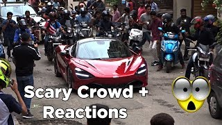 Reactions: Unbelievable crowd to see Mclaren 720S in India | Part 3 | #168