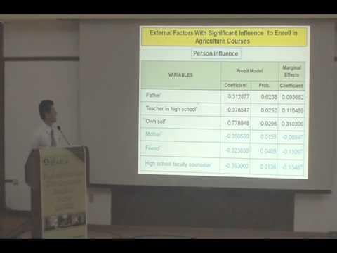 Factors Influencing Enrollment in Agriculture Courses
