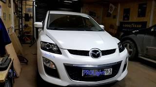 Mazda CX-7. Проблема плохого штатного света решается только заменой линз.