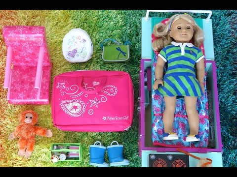 American Girl Packing For Vacation