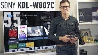 Sony KDL-55W807C: обзор телевизора(Цена и наличие: http://rozetka.com.ua/sony_kdl_55w807csr2/p3969873/ Видеообзор Sony KDL-55W807C Смотреть обзоры других телевизоров: ..., 2015-09-30T08:22:21.000Z)