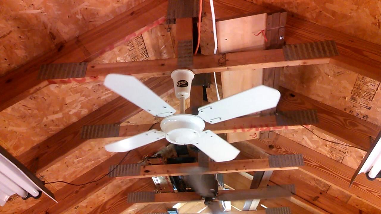 Moss Shi Chen Caribbean Breeze Ceiling Fan 36 Wood Blades