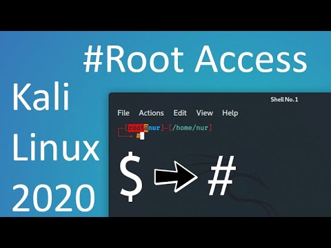 How to grant terminal root without typing sudo su every time in Kali linux 2020 ️ - YouTube