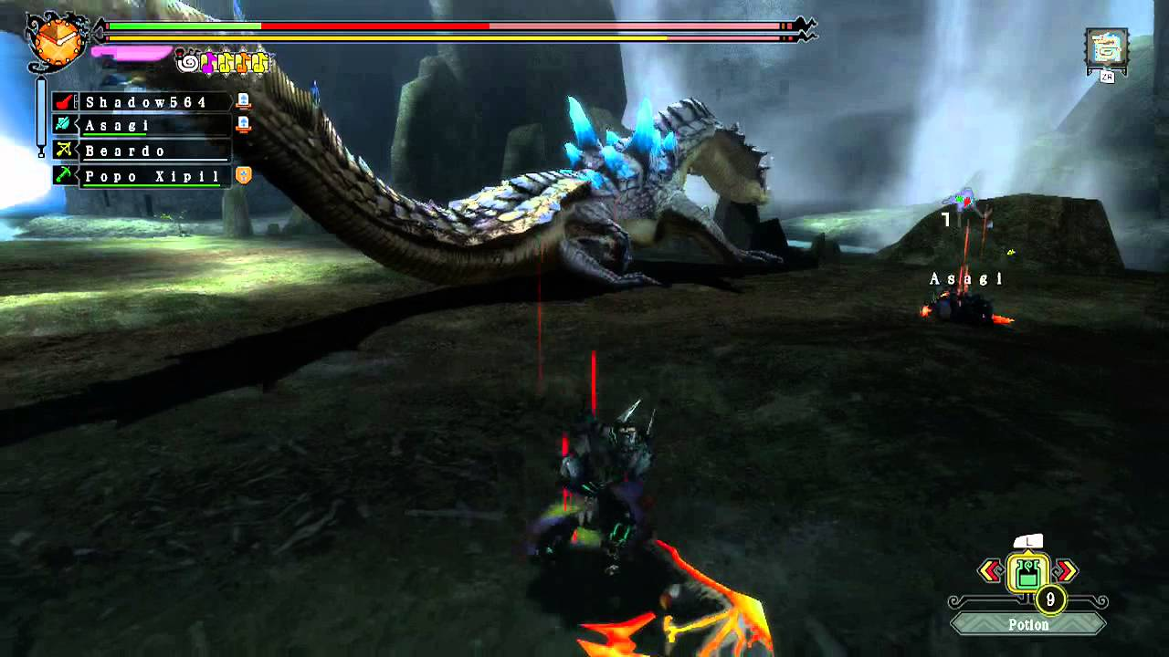 Monster Hunter 3 Ultimate - Super Ivory Lagiacrus! (G-rank ...