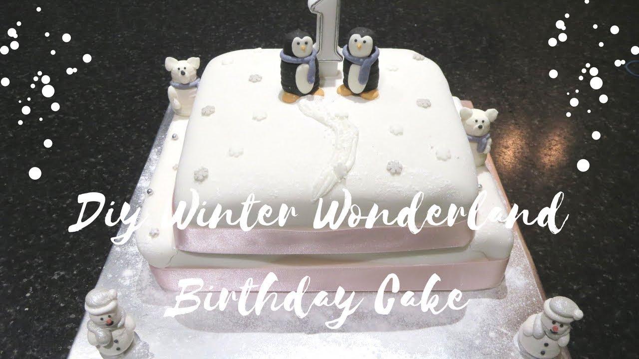 Diy Winter Wonderland Cake Youtube