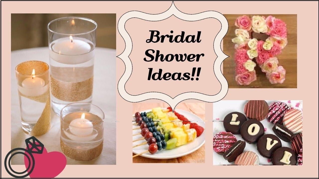 Bridal Shower Ideas Part 3 Easy Diy Decor Dessert And More