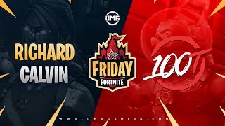 King Richard & AimBotCalvin vs 100T | Friday Fortnite Week 10 | Winners Finals