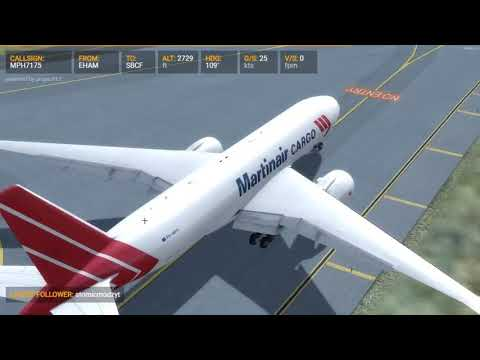 Approach and landing in Belo Horizonte with a Boeing 777 Cargo [P4D]