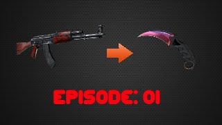 CSGO +rep Trading from Nothing to Knife? :: Episode 1 - $5 Profit!