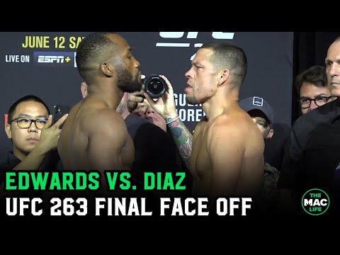 Nate Diaz vs. Leon Edwards Final Face Off for UFC 263