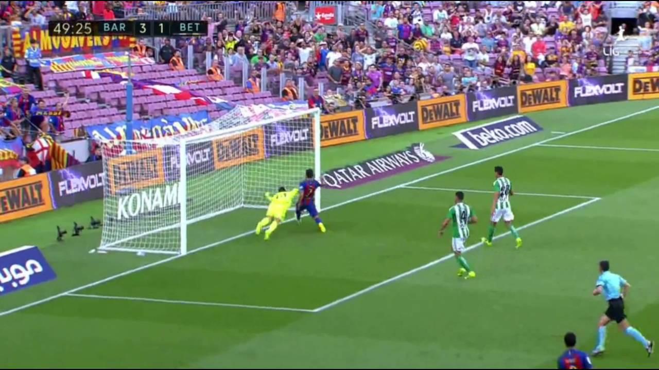 Barcelona 6-2 Real Betis Maç Özeti (20.08.2016) - YouTube