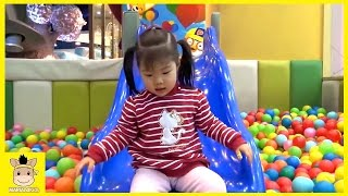 Indoor Playground Learn Colors Rainbow Family Kids Fun for Play Slide Colors Ball | MariAndKids Toys