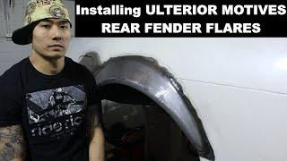 How to modify your rear quarter panels for ULTERIOR MOTIVES Fender Flares!!