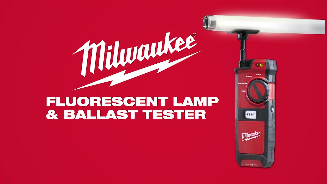Milwaukee® Fluorescent Lamp and Ballast Tester 2210-20 - YouTube