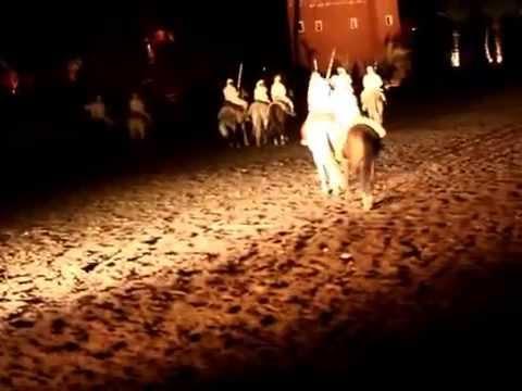 Morocoo Marrakech Fantasia horse show and belly dance
