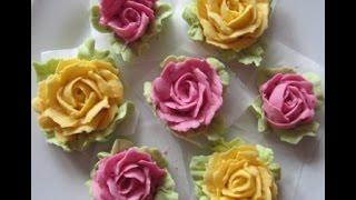 Розы с  натуральными красителями(морковь ,свеклa , шпинат)(, 2014-03-07T08:14:00.000Z)