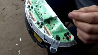 замена ламп подсветки приборной панели сенс, ланос