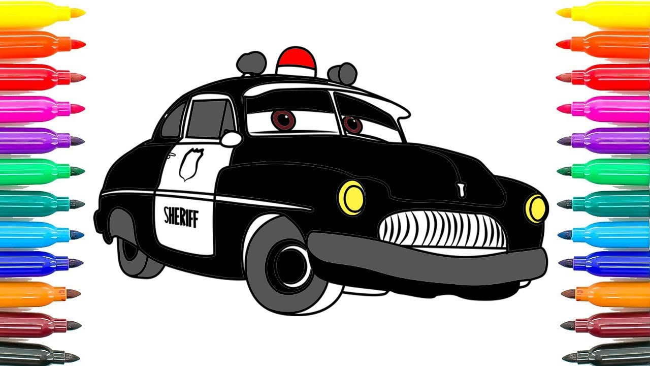 How To Coloring Cars 3 Sheriff Disney Pixar Cars 3 Coloring Pages