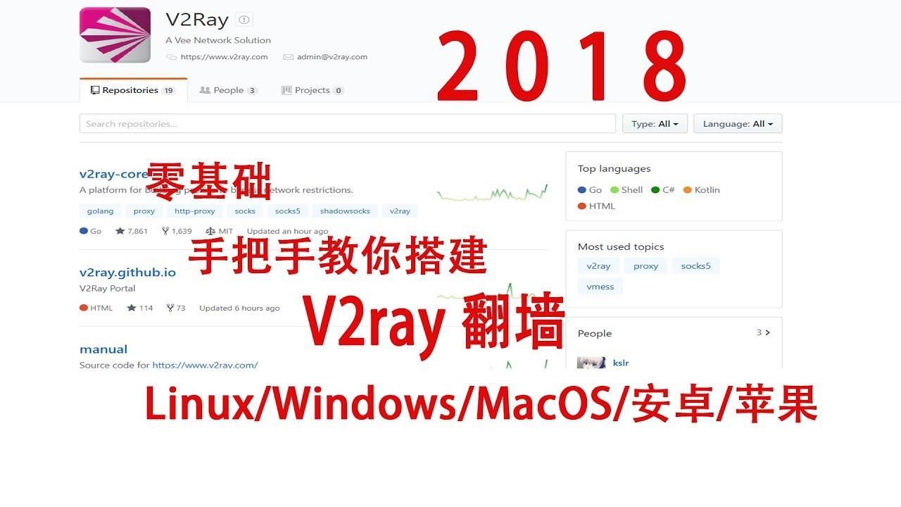 零基础手把手教你搭建V2ray翻墙Linux/Windows/MacOS/安卓/苹果