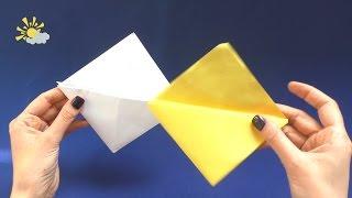 Как сделать кошелек из бумаги. Оригами треугольный кошелек с двумя карманами
