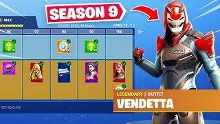 SEASON 9 BATTLE PASS TIER 100 SKIN UNLOCKED! Fortnite Battle Royale Season 9!