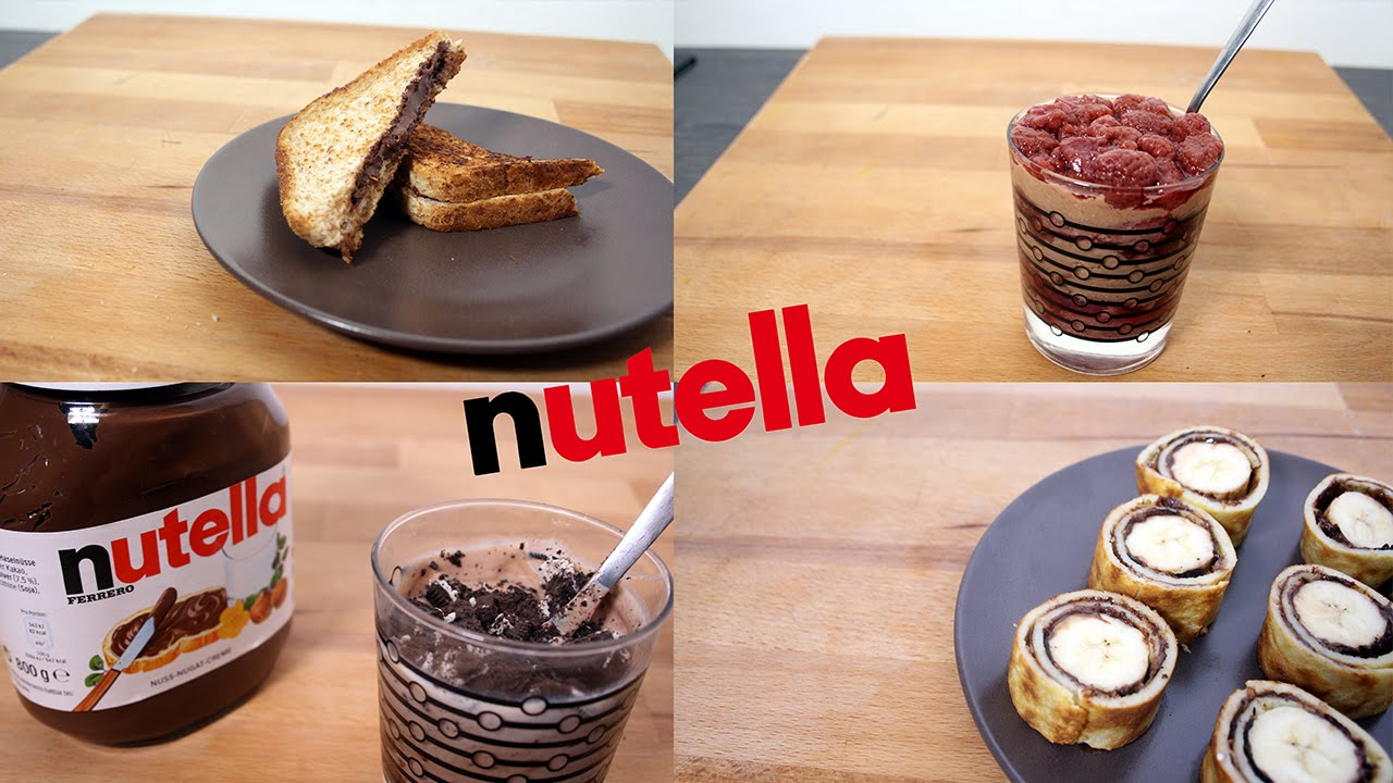 5 recettes nutella rapide et facile youtube. Black Bedroom Furniture Sets. Home Design Ideas