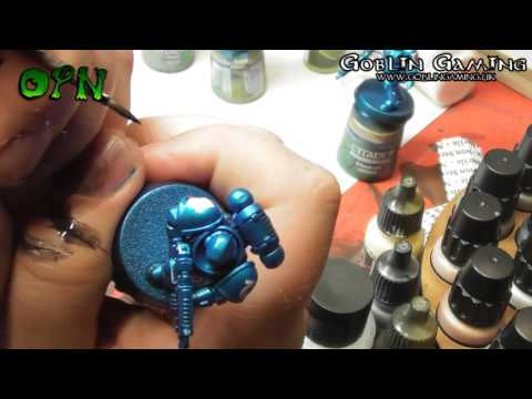 How to paint metallic Primaris Marines