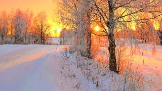 ❄Beautiful Winter Snow Scene Relaxing Piano Music - Soothing Calm Sleep Meditation Yoga Music #03