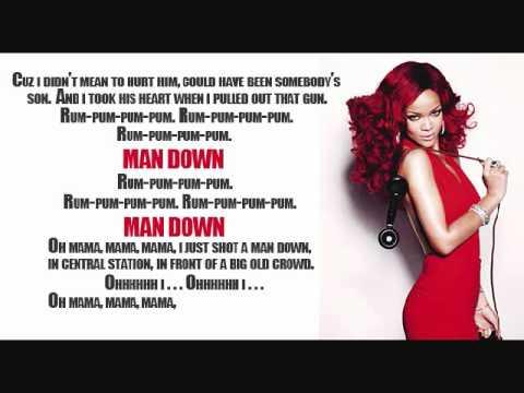 Rihanna - Man Down w/ lyrics