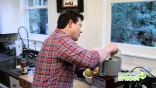 Tyler Florence Makes Sprout Beef & Vegetable Lasagna Recipe
