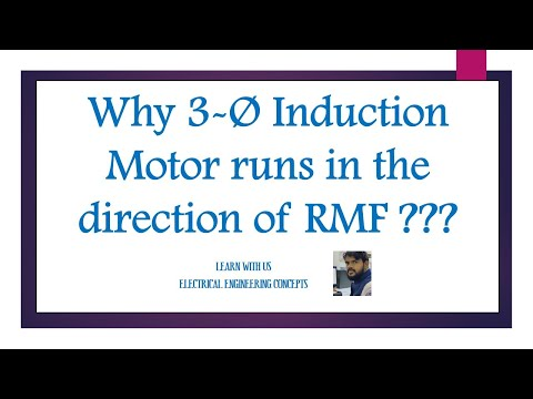 Why three phase Induction Motor runs in the direction of RMF