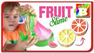 SLIME VS SLIME Fruit Slime Challenge cu fructe din SLIME.  Provocare Neobisnuita la Bogdan`s Show