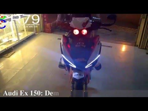Led audi Exciter 150, độ đèn Exciter 150 mới nhất 2016