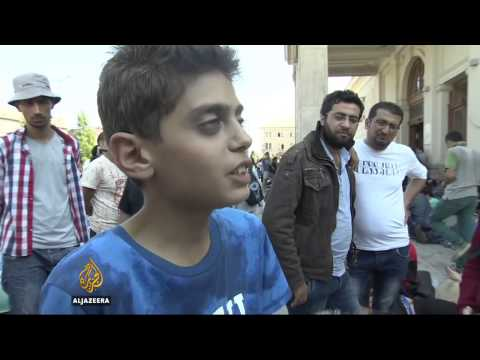 Syrian Boy to Hungarian Police (Al Jazeera English)