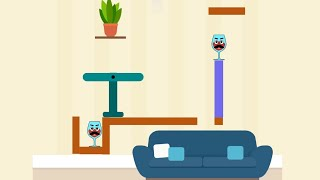 Spill It! Level (251-300) Gameplay Walkthrough Drop Balls And Break Glasses