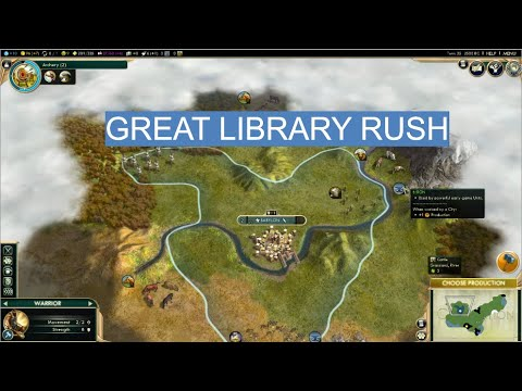 Rush Great Library in Sid Meier's Civilization V |