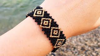 Bracelet/Beaded bracelet/Diy bracelet/Браслет из бисера/Браслет с узором/Как сделать браслет