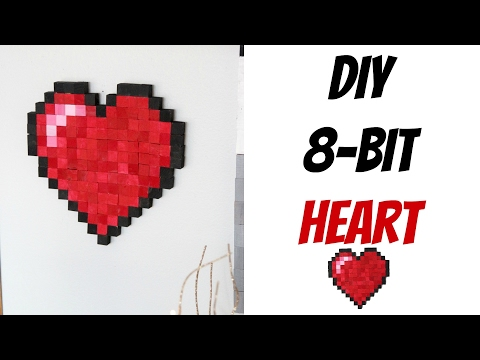 DIY 8 Bit Heart   Nerdy Crafts Ep. 25