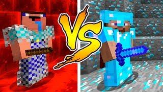 MINECRAFT - NOOB VS PRO: DIAMOND BATTLE in Minecraft thumbnail