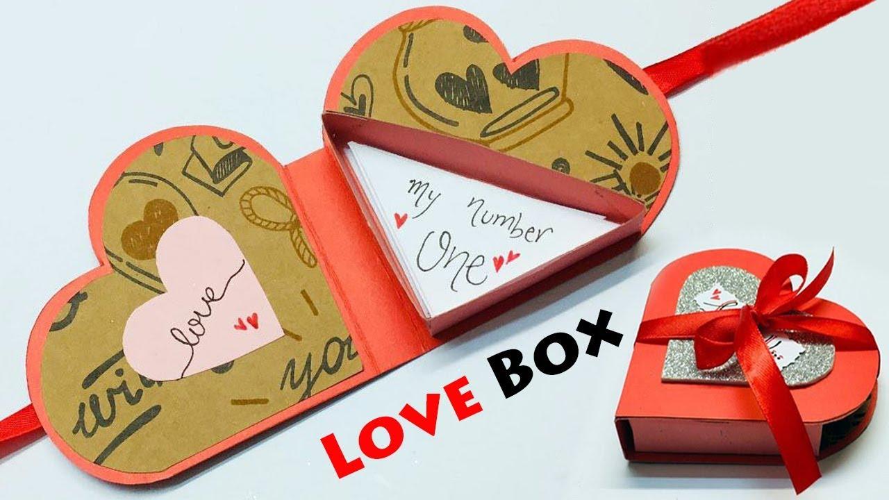 Love Box Card  Love Greeting Cards Latest Design Handmade  Box Greeting  Card Making Ideas  #5