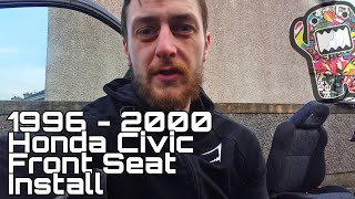 How to install front seats | Honda Civic ek | 1996 -2000