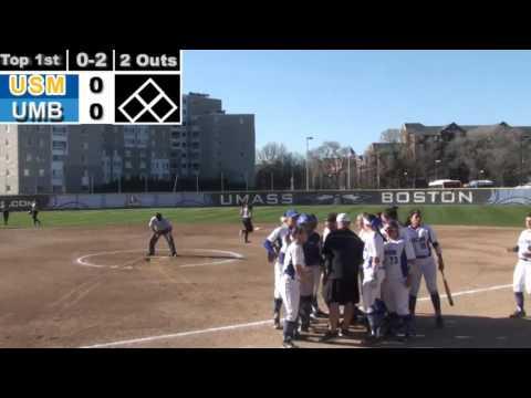 UMass Boston Softball vs. University of Southern Maine Webcast (04/21/16)