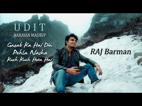 Udit Narayan Hit Mashup (Medley) | Gazab Ka Hai Din | Pehla Nasha 2018 | Raj Barman Cover