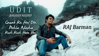 Udit Narayan Hit Mashup (Medley) | Gazab Ka Hai Din | Pehla Nasha 2018 | Raj Barman Cover mp3 song download