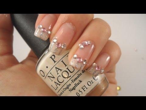 elegant bridal nails