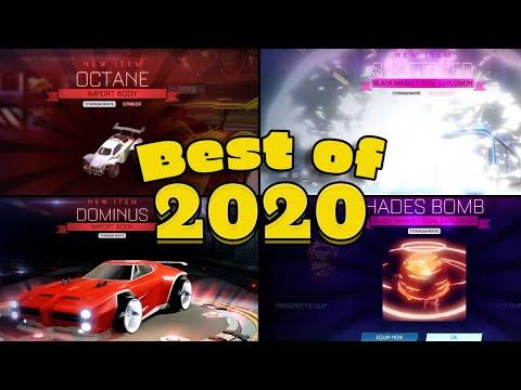 Best Of 2020 Rocket league (Golden Crates, Drops, Tournament Rewards and Trade Ups)