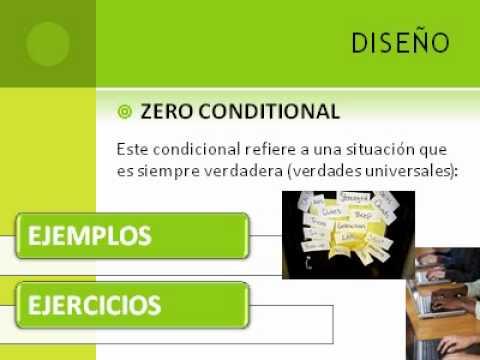 Construcción Gramatical Del Cero Y Primer Condicional Avi