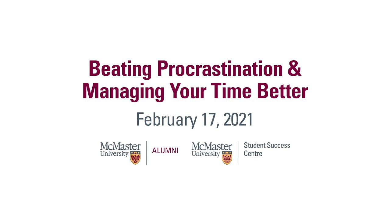 Image for Beating Procrastination & Managing Your Time Better (February 17, 2021) webinar